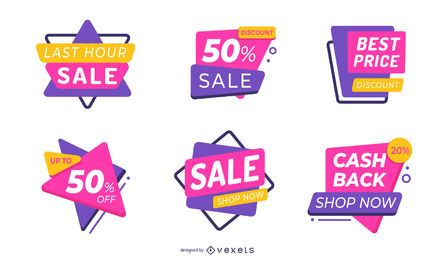 Sale labels editable set