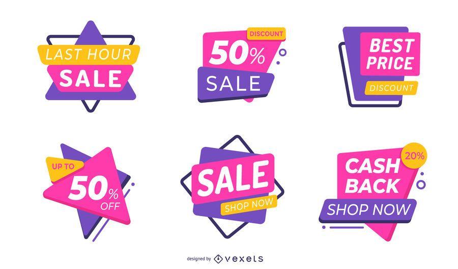 Sale labels editable set