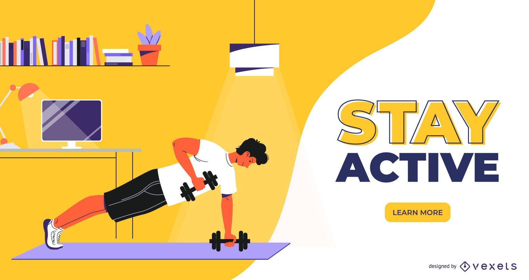 Home Workout Web Slider Designi