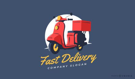 Design de logotipo de entrega rápida