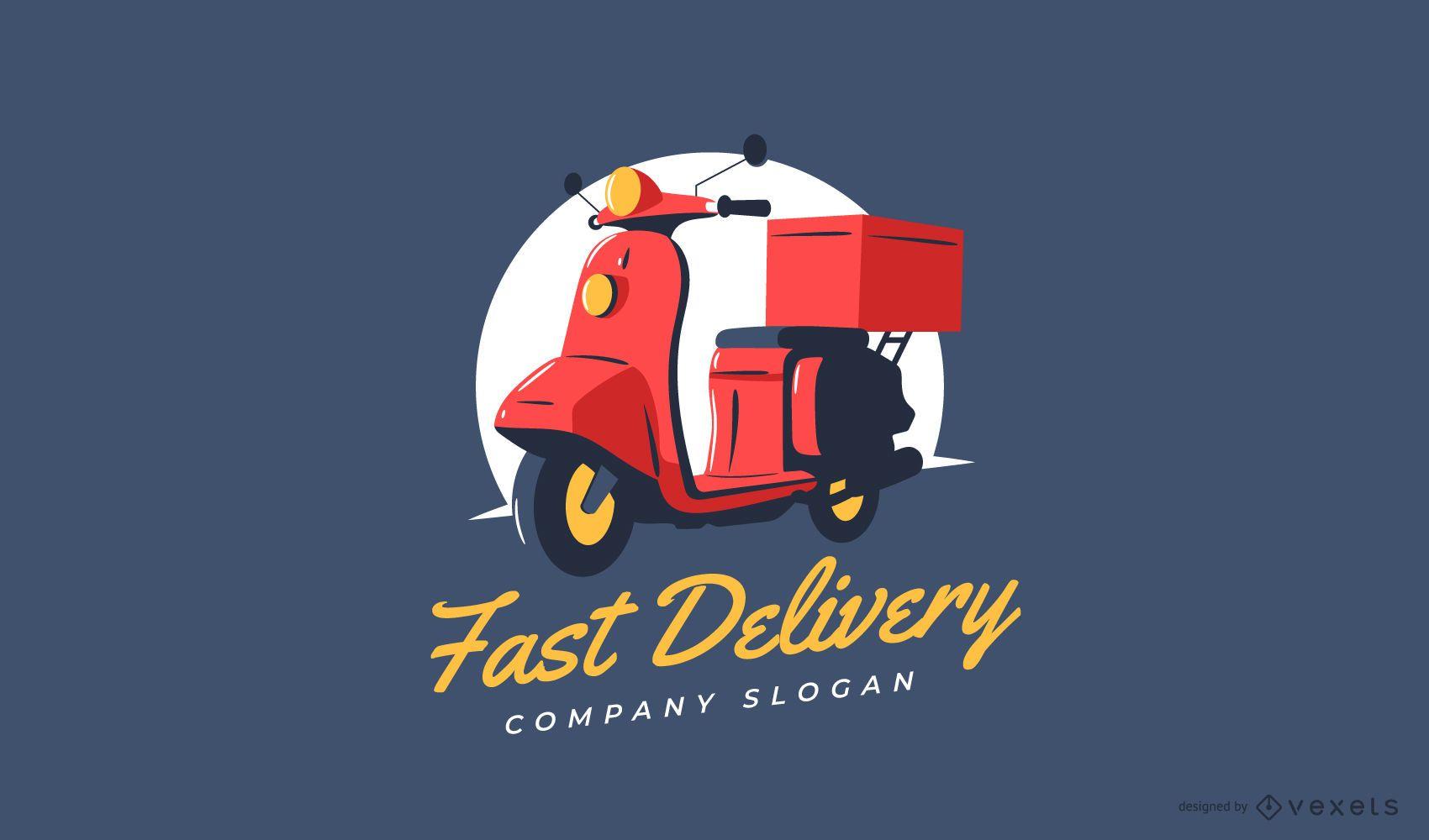 Design de logotipo para entrega rápida