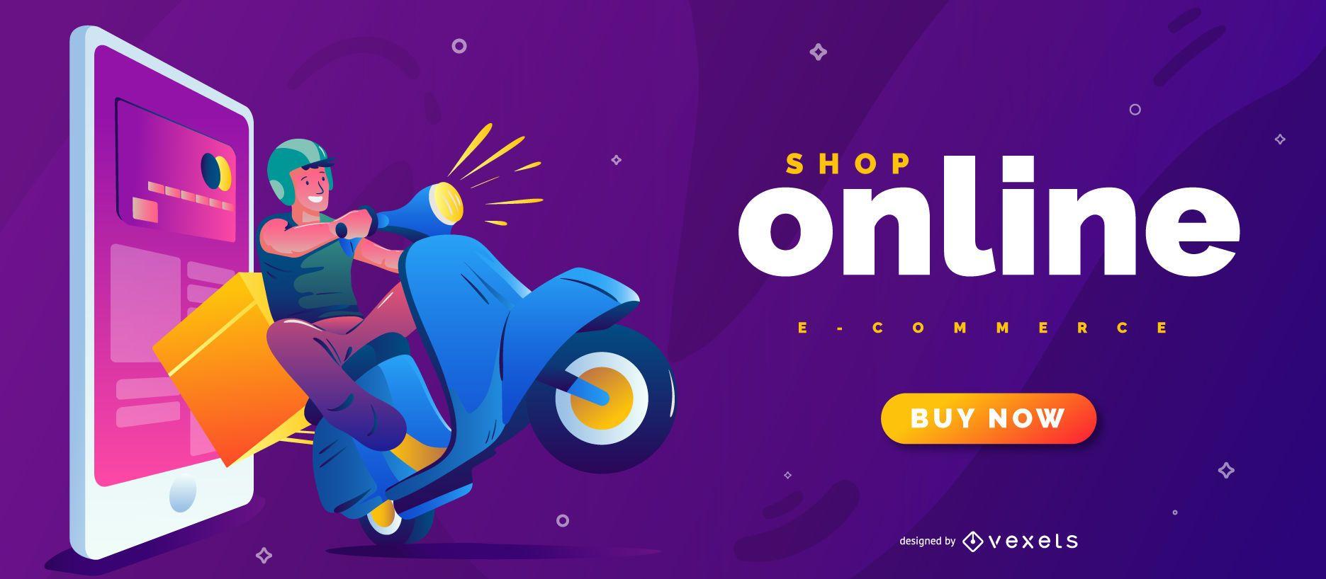 Shop online slider template