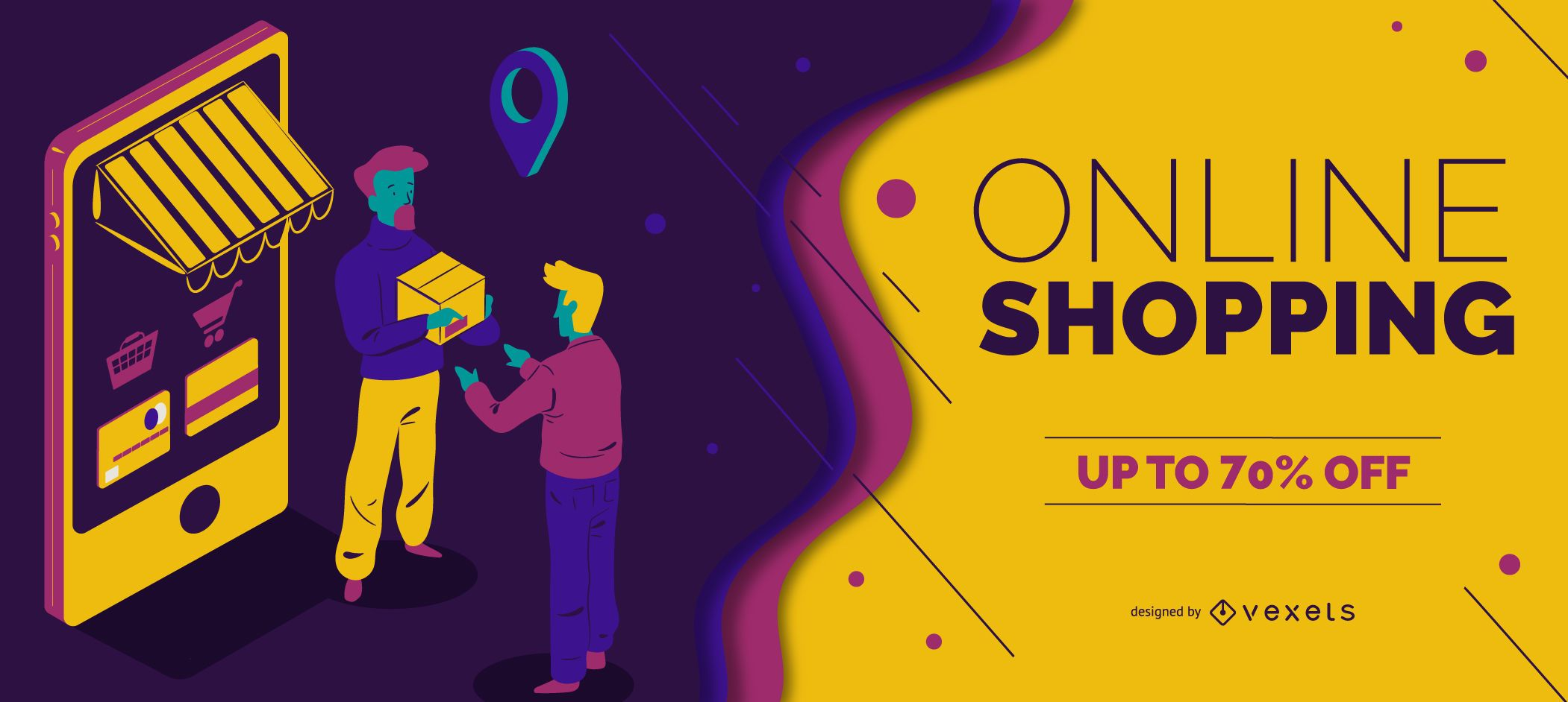 Online shopping slider template