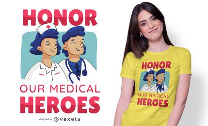 Diseño de camiseta de texto de Honor Doctors
