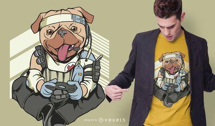 Projeto do t-shirt do vértice Pug Apex