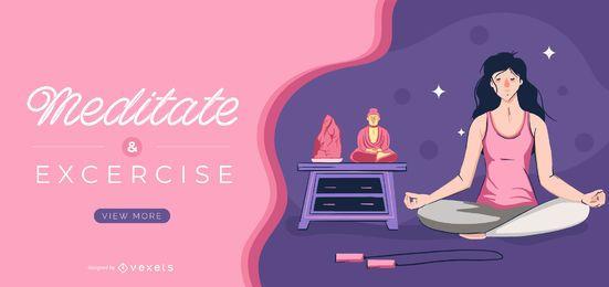 Modelo de controle deslizante de meditação e exercício