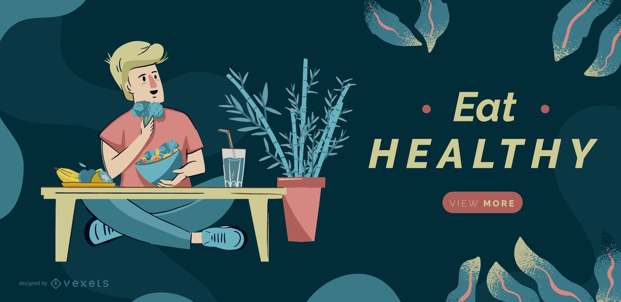 Plantilla de control deslizante de comer saludable