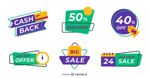 Sale labels editable pack