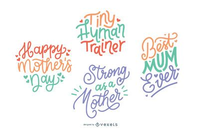 Mother's day lettering set