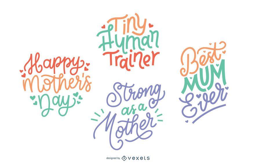Muttertag Schriftzug gesetzt