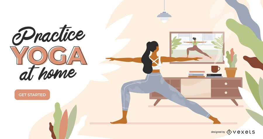 Yoga at home slider template