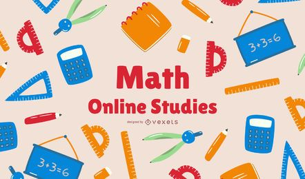 Diseño de portada de estudios en línea de matemáticas