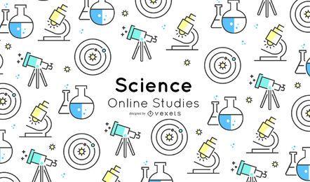 Diseño de portada de elementos científicos