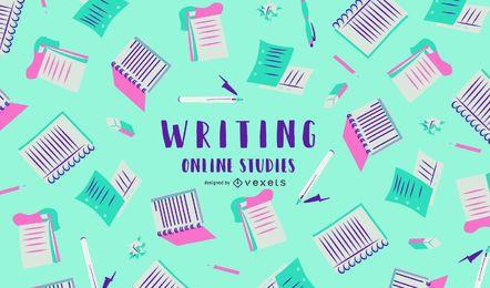 Escrevendo Design de Capa de Estudos Online