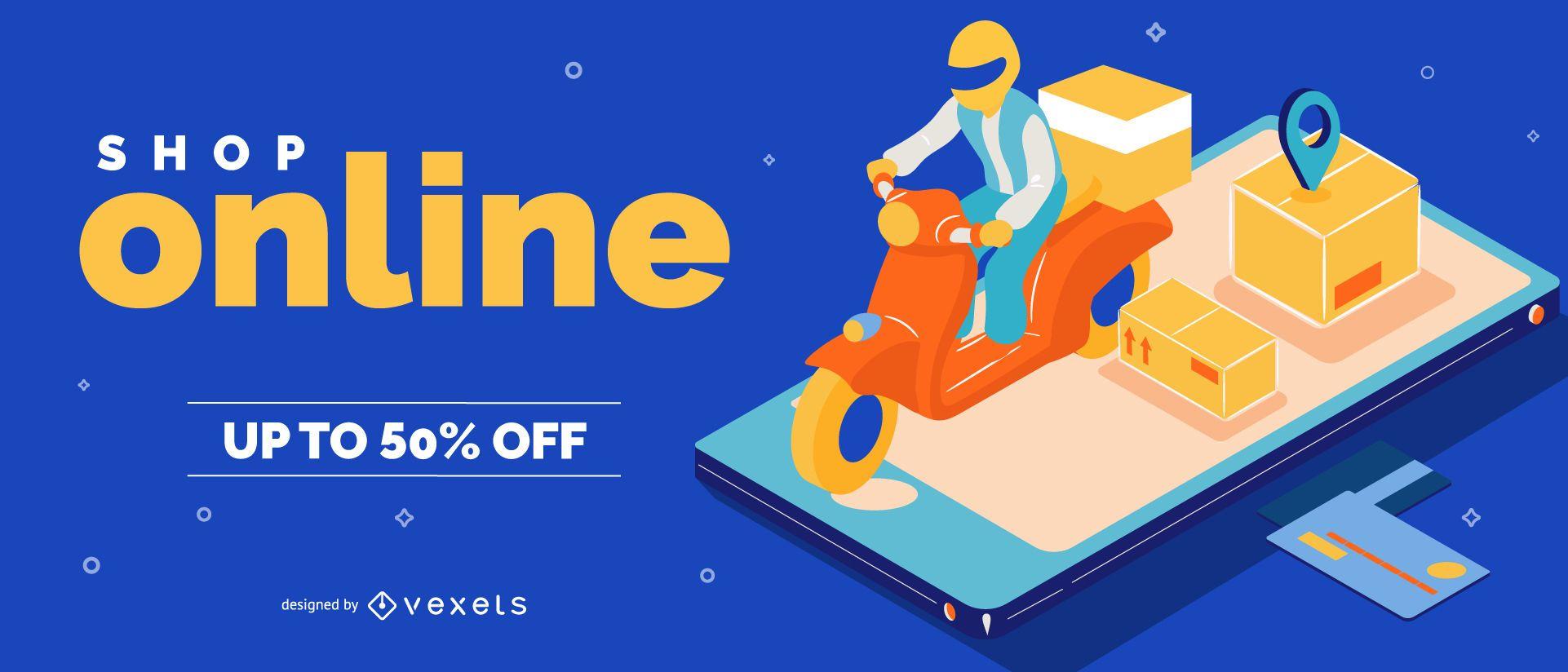 Shop Online Web Slider Design