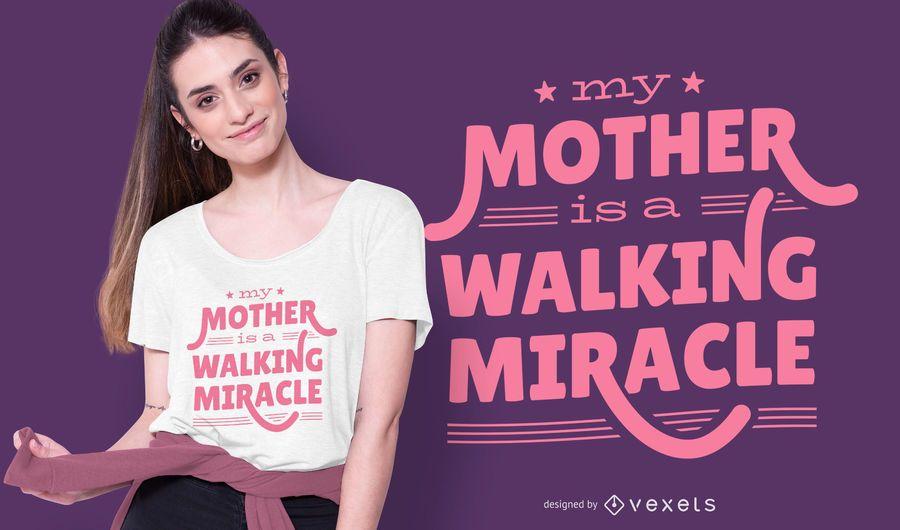 Diseño de camiseta de regalo de cita de madre
