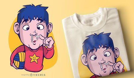 Diseño de camiseta Snotty Nose Kid