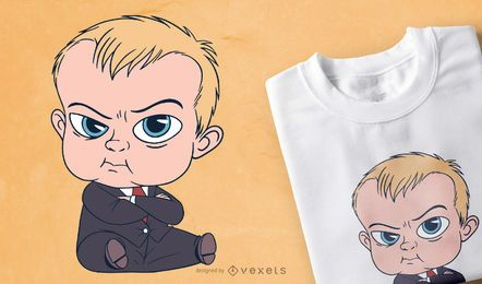 Baby Suit Cartoon T-shirt Design