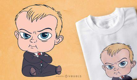 Design de t-shirt de desenho animado de terno de bebê