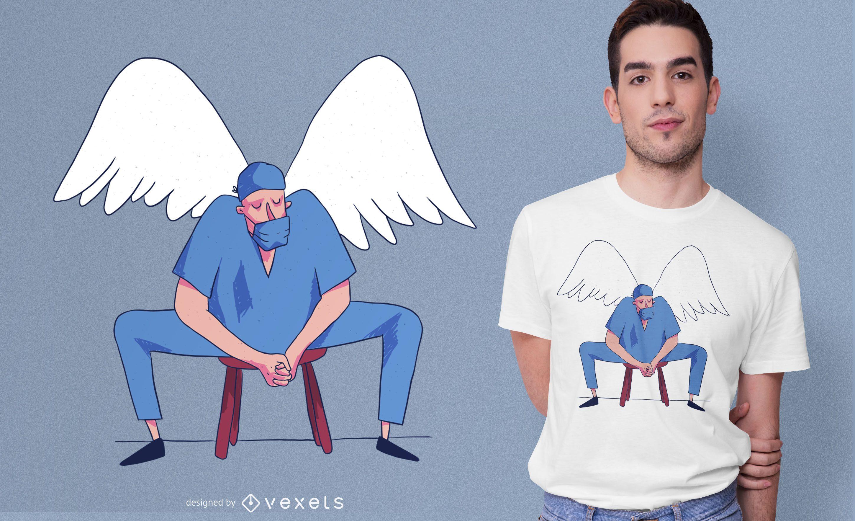 Doctor Angel Illustration T-shirt Design