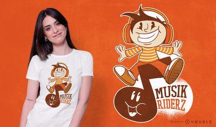 Design de camisetas Music Rider Cartoon