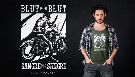 Design espanhol alemão do t-shirt do ciclista