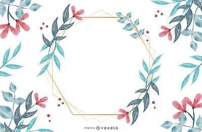 Flower Hexagonal Frame Design