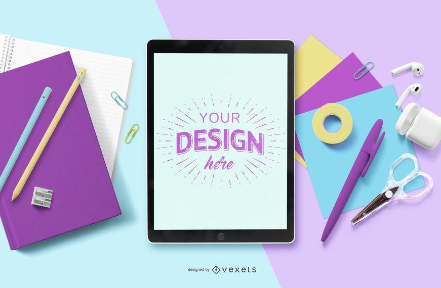 Educational iPad Mockup Composition