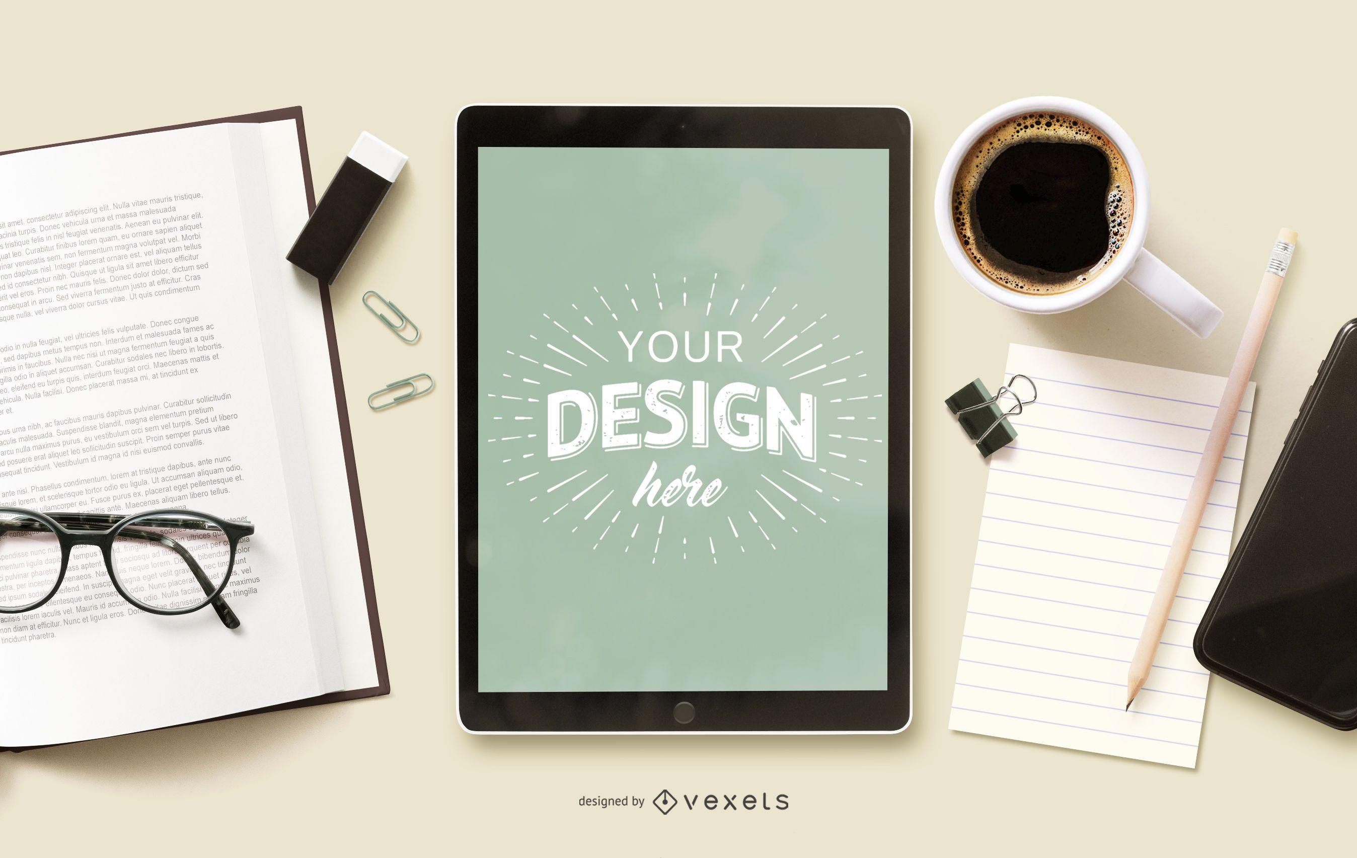 Online-Bildung iPad Mockup