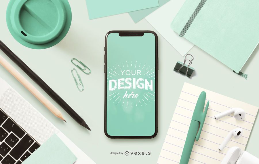 Education phone mockup composition