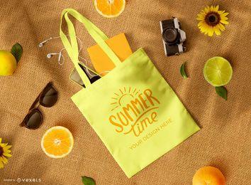 Einkaufstasche Früchte Modell Zusammensetzung
