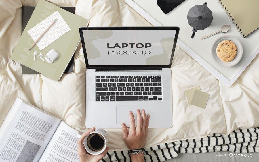 Remote Work Computer Screen Mockup