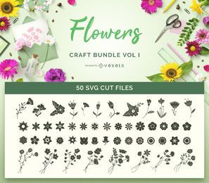 Flores Artesanato SVG Bundle Vol I