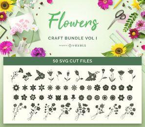 Pacote SVG Flores Craft Vol I