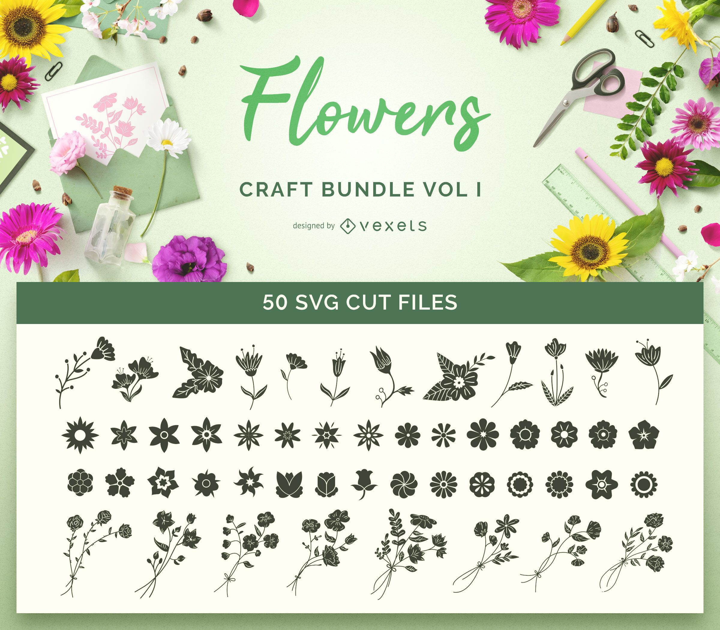 Flowers Craft SVG Bundle Vol I