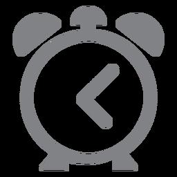 Escola de ícone plana de relógio despertador