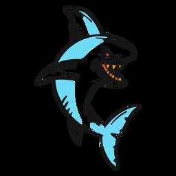 Tatuaje vintage tiburón enojado