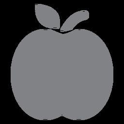 Icono plano de manzana