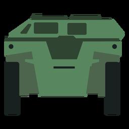 Vista frontal de transporte de personal blindado