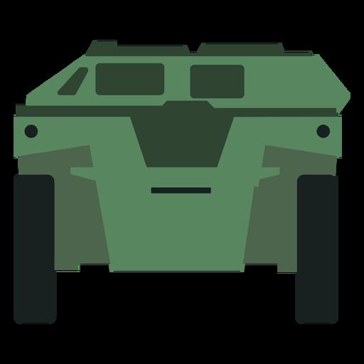 Vista frontal del vehículo blindado de transporte de personal