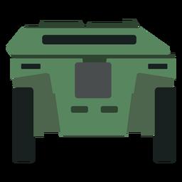 Vista trasera del vehículo blindado de transporte de personal