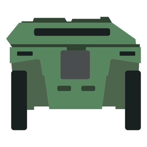 Armoured personnel carrier rear view