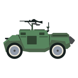 Armoured personnel carrier side view