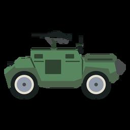 Vista lateral del vehículo blindado de transporte de personal