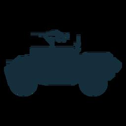 Silhueta de veículo blindado