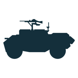 Silueta de transporte de personal blindado