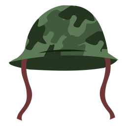 Army helmet front view