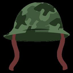 Vista frontal do capacete do exército