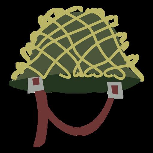 Army helmet with net