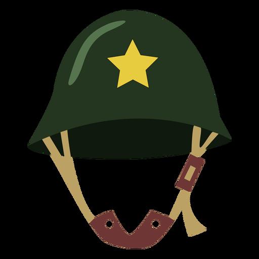Casco militar con estrella Transparent PNG